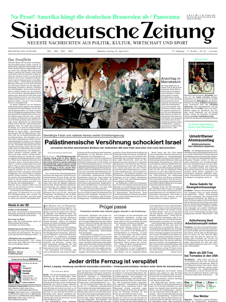 Suddeutsche Zeitung 20110429