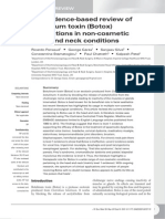 An evidence-based review of botulinum toxin (Botox) applications in non-cosmetic head and neck conditions