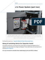 Capacitor Banks in Power System Part Two