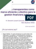 Gobiernos transparentes como marco eficiente y efectivo para la gestión financiera pública