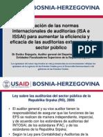 Aplicación de las normas internacionales de auditorías (ISA e ISSAI) para aumentar la eficiencia y eficacia de las auditorías externas del sector público