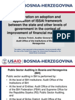 Cooperation on adoption and application of ISSAI framework between the state and other levels of government in the context of improvement of financial management