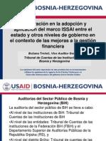 Cooperación en la adopción y aplicación del marco ISSAI entre el estado y otros niveles de gobierno en el contexto de las mejoras a la gestión financiera