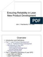Ensuring Reliability in Lean New Product Development Part 1