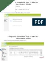 Configuration of Modem for Smart PC TV Application SAGEMCOM  F@st 1704