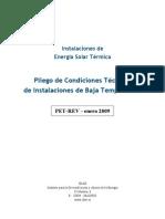 PCT IDAE de Inst Solar Termica Baja Temperatura 2009