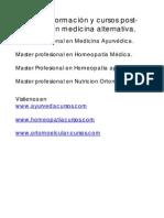 Formacion en Medicina Alternativa
