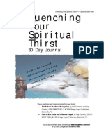 Quenching Your Spiritual Thirst - 30 Day Journal