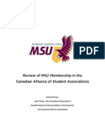 Canadian Alliance of Students Association Review