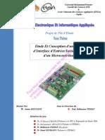 Etude Et Conception d'une Carte d'Interface à base d'un Microcontrôleur