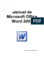 Manual de Microsoft Office Word 2003