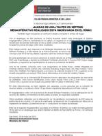 CAEN DOS BANDAS DE ASALTANTES EN SÉPTIMO MEGAOPERATIVO REALIZADO ESTA MADRUGADA EN EL RÍMAC