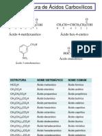 Ácidos Carboxílicos e Derivados - Estrutura, Ocorrência e Nomenclatura