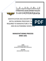 Manufacturing Process of Train Wheel and Automobile Wheel Rim
