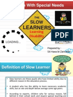 Children With Special Needs-Slow Learner.
