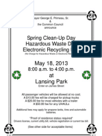Acceptable items for Spring Cleanup Day