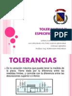 Tolerancias y Especificaciones