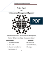 Project Attendence Managemnt System