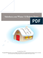 Salesforce Winter13 Release Notes