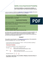 Theoretical Probability Versus Experimental Probability