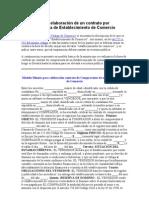 Modelo Para La Elaboracion de Un Contrato Por Compraventa de Establecimiento de Comercio