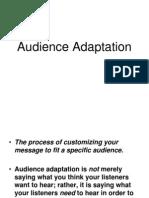 Audience Adaptation