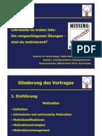 Vortrag Motivation im Anfangsunterricht 2005