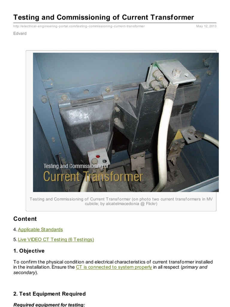 Electrical Engineering Portalcom Testing And Commissioning Of Ammeter Selector Switch Connection To Current Transformers Transformer Equipment