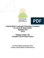 Proposal to Landmarks and Preservation Commission for a Crow Hill HIstoric District - Part 2 of 2