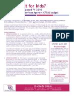 DC ACT CFSA 2010 Budget Analysis 4 8 09