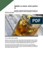 Infuzia de păpădie cu miere, elixir pentru ficat şi rinichi
