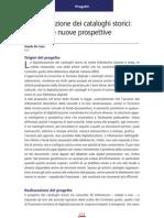 Gisella de Caro, Digitalizzazione Dei Cataloghi Storici (Digitalia n. 1, Giugno 2006)