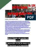 Noticias Uruguayas sábado 18 de mayo del 2013