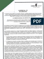 Acuerdo No. 172 Del 6 de Junio de 2012