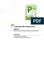 Manual Project 2010 sesión 1