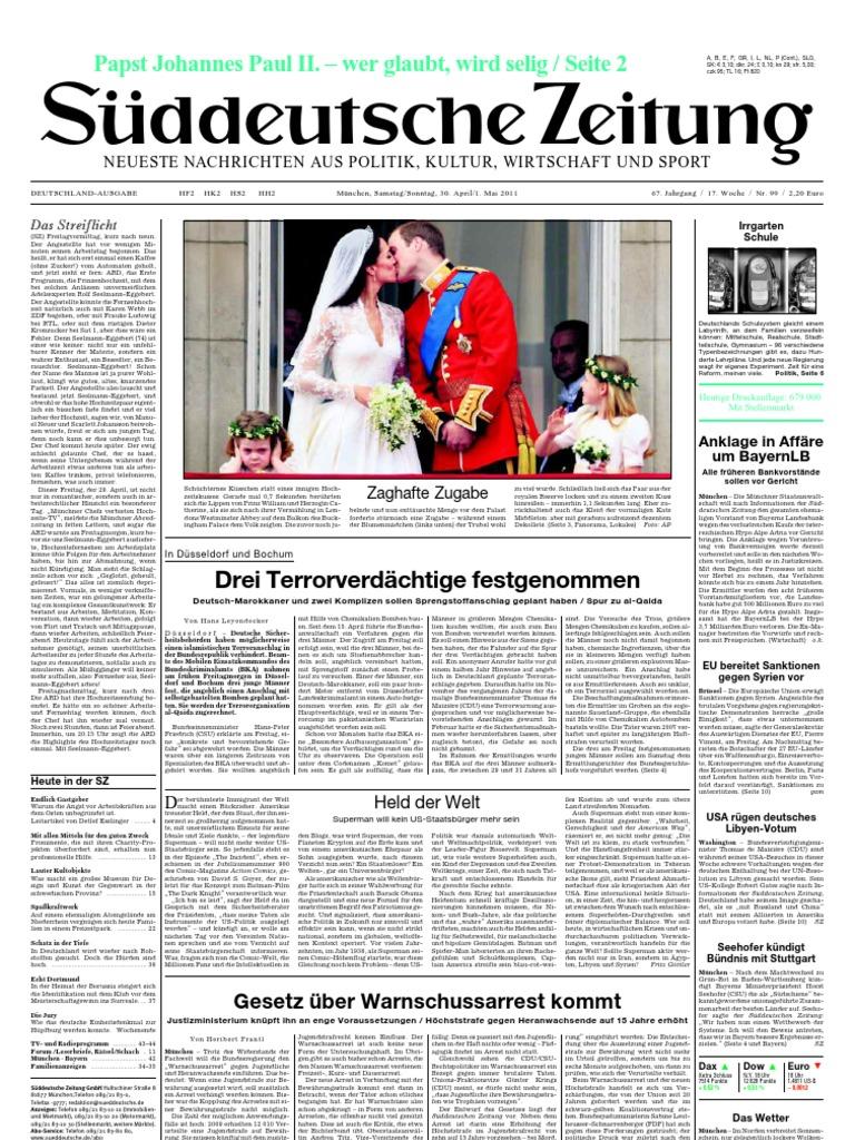 Suddeutsche Zeitung 20110430
