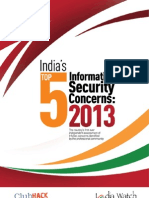 India Top5 Information Security Concerns 2013 IndiaWatch and ClubHack