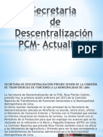 Secretaria de Descentralizacion - PCM .- Actual
