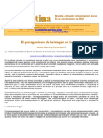 El Protagonismo de La Imagen en La Prensa. Minervini y Pedrazzini