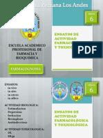 fcognos_6_Ensayos de actividad farmacológica y toxicológica