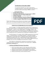 Essentials of Performance Management