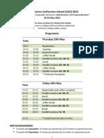 Laci Programme 2013
