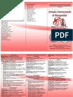 Triptico de Jornadas Internacionales de Bioseguridad