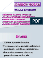 Educacion Vocal