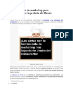 Herramientas de Marketing Para Restaurantes