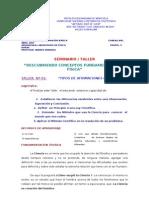 TALLER Nº 01 TIPOS DE AFIRMACIONES CIENTÍFICAS (VF)