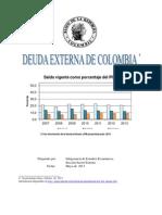 deuda extrerna 2013
