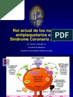 Antiplaquetarios en el síndrome coronario agudo