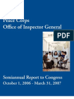 Peace Corps OIG October 1, 2006 - March 31, 2007 (PDF) SARC_200706