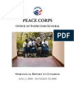 Peace Corps OIG April 1, 2006 - September 30, 2006 (PDF  SARC_200609